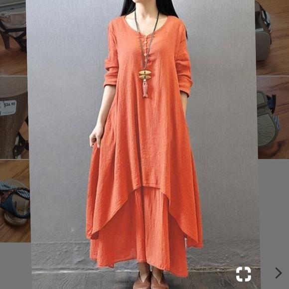 Orange Gypsy Dress